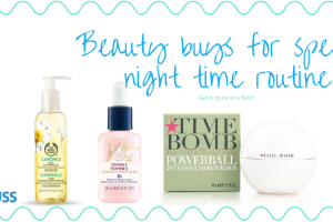 speedy night time skincare routine