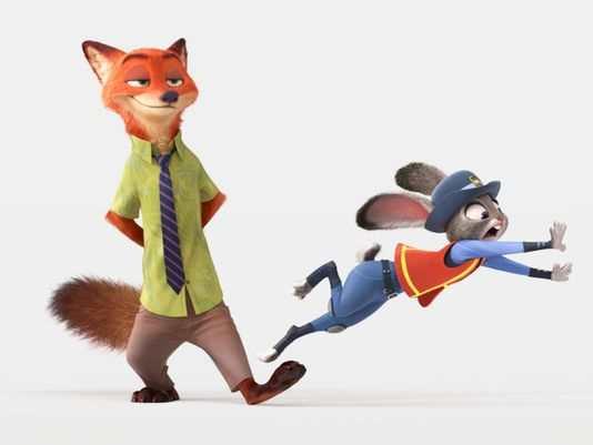 Zootropolis characters Nick Wilde and Judy Hoops