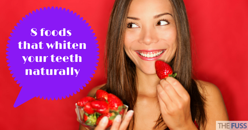 8 foodsthat whiten your teeth TheFuss.co.uk