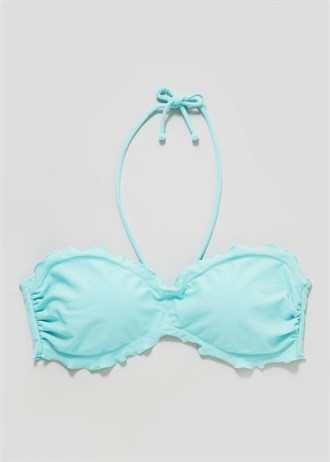 Matalan Frill Edge Bandeau Bikini Top