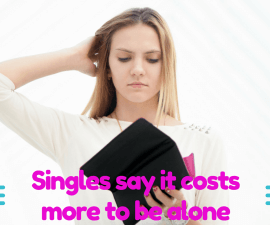 Singles say it costs more to be alone TheFuss.co.uk