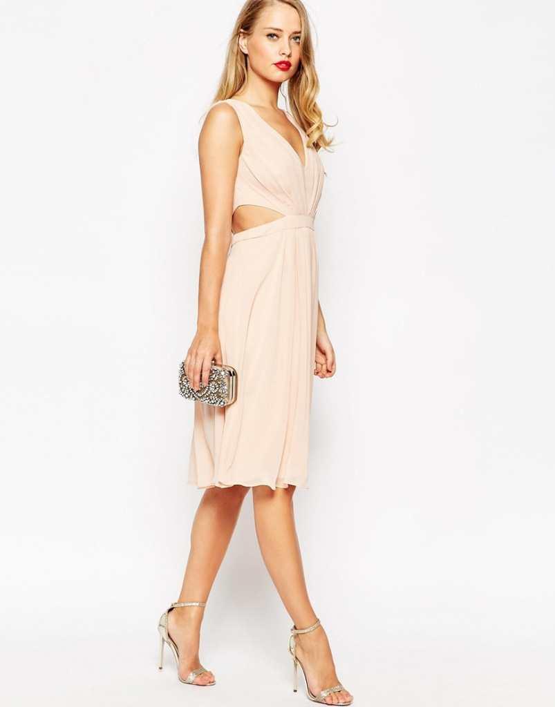 ASOS Side Cut Out Midi Dress