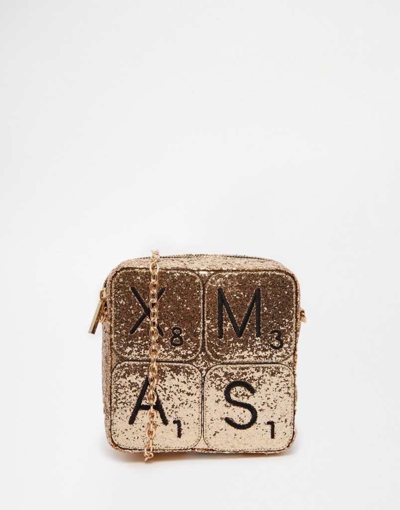 Skinnydip Exclusive XMAS Glitter Cross Body Bag