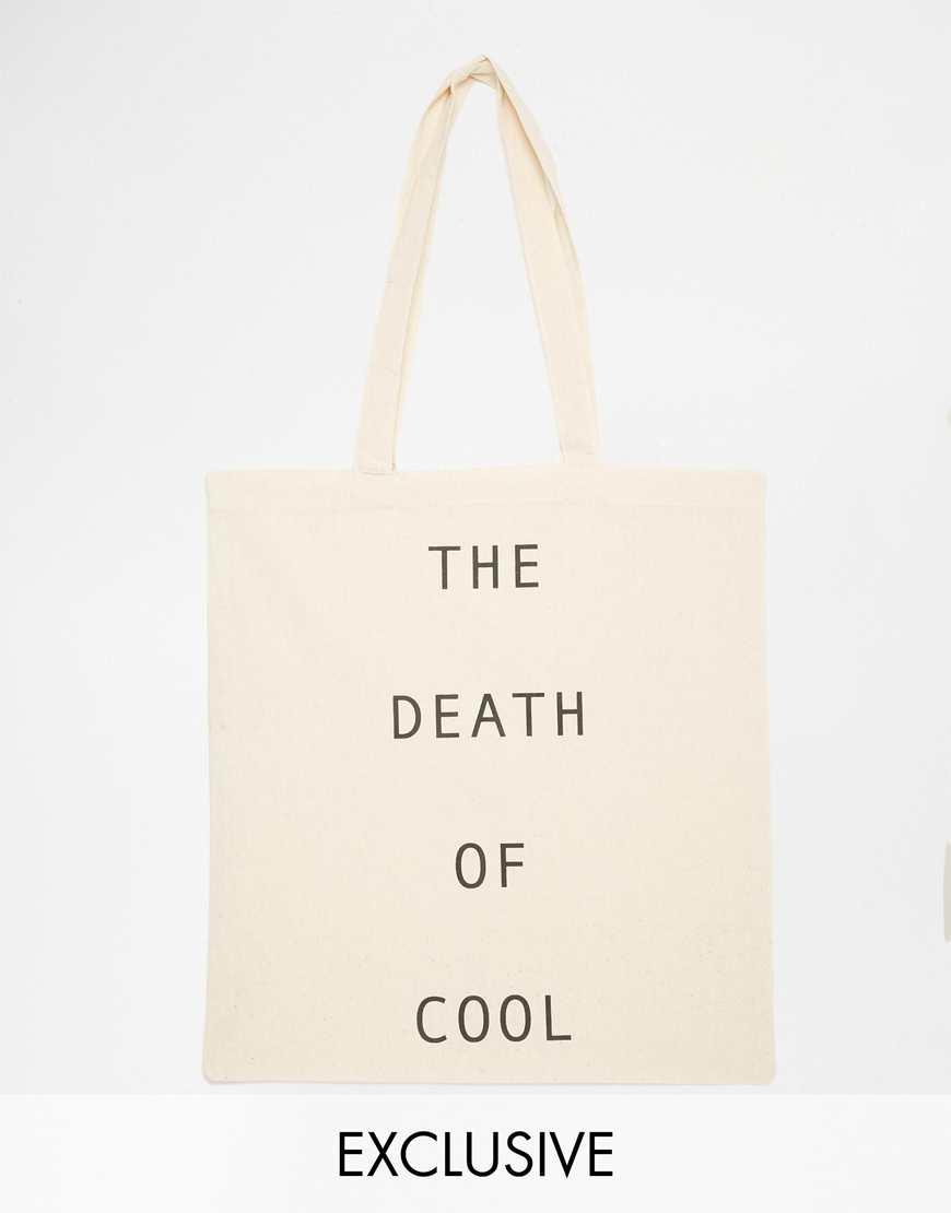 Reclaimed Vintage Death Of Cool Tote Bag