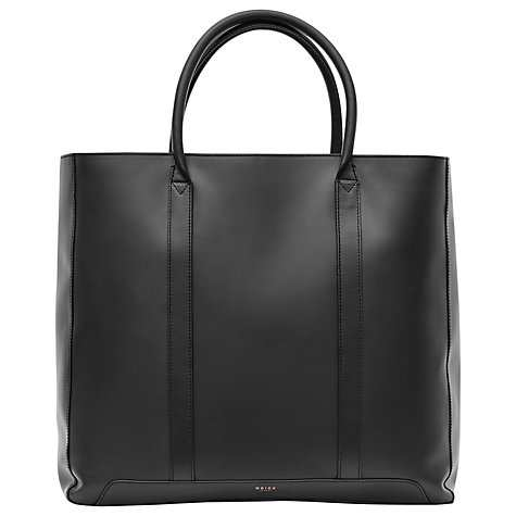 Reiss Leather Tote Bag, Black