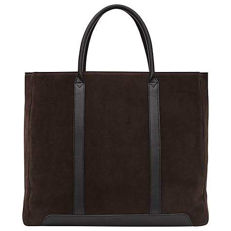 Reiss Leather Tote Bag, Brown