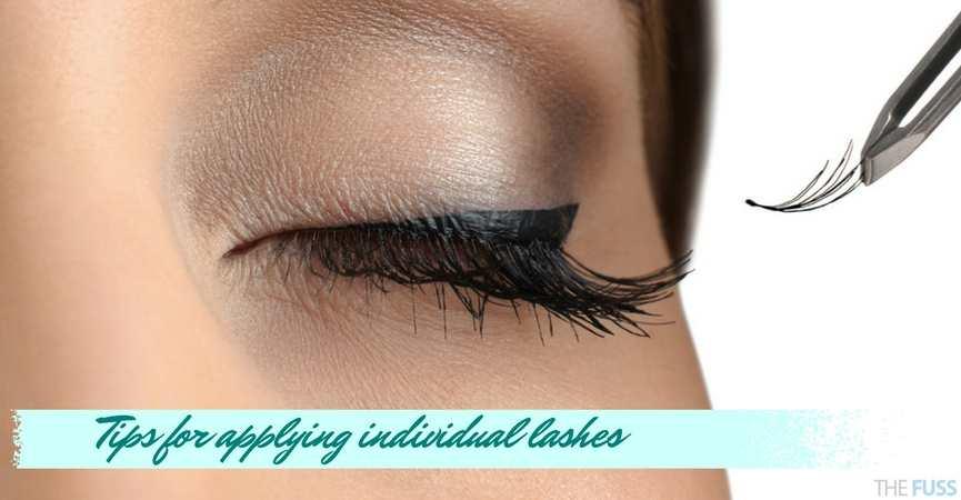 Tips for applying individual lashes TheFuss.co.uk