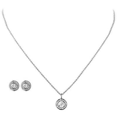 Dyrberg Kern Cubic Zirconia Pendant Necklace And Stud Earrings Gift Set