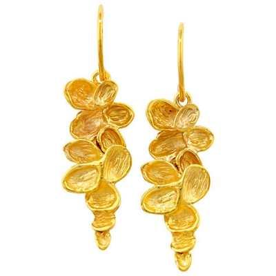 London Road Falling Leaves Gold Earrings