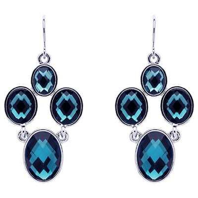 Monet Faceted Crystal Chandelier Earrings
