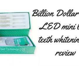 Billion Dollar Smile LED Mini Light Teeth Whitening Kit Review TheFuss.co.uk