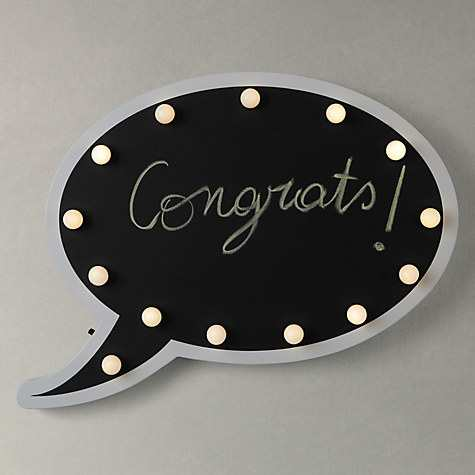 John Lewis Chalkboard Speech Bubble LED Table And Wall Light