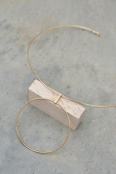 Lavish Alice Sterling Silver Gold Plated Hoop Detail Choker