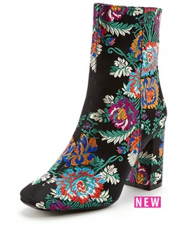 V By Very Adelaide Embroidered High Ankle Boot