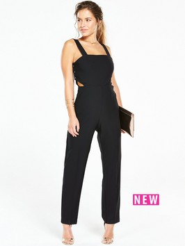 V By Very Petite Button Side Tailored Jumpsuit