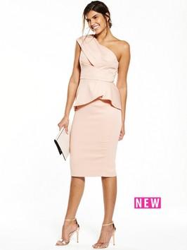 V By Very Satin One Shoulder Dress