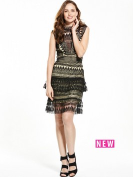 V By Very Sleeveless Lace Frill Dress