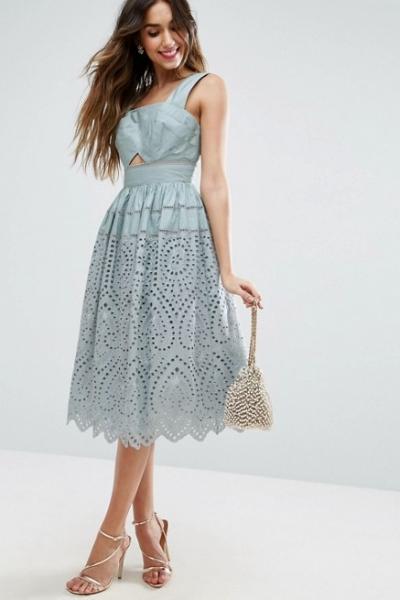 ASOS Broderie Prom Dress