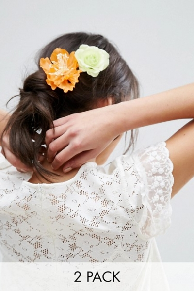 ASOS Pack Of 2 Oversize Flower Hair Clips