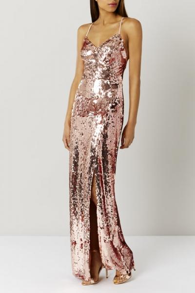 Coast Kadie Sequin Maxi Prom Dress