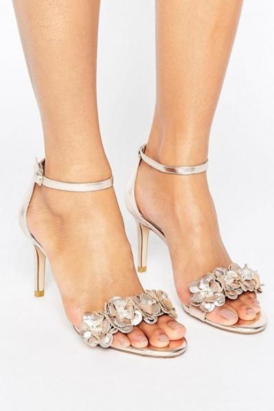 Dune Magnolea Heeled Sandal With Applique