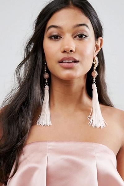 Her Curious Nature Fan Tassle Earrings