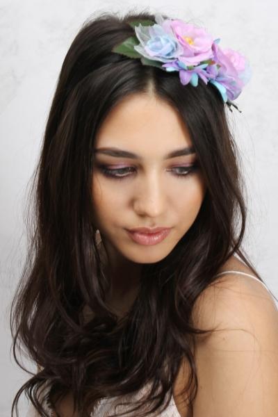 Rare Purple Floral Headband
