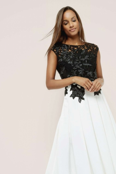 Ted Baker Ilsa Embroidered Appliqué Midi Dress