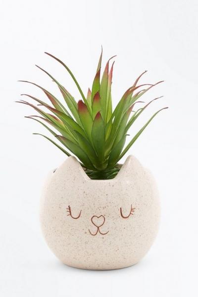 New Look Ceramic Cat Plant Pot