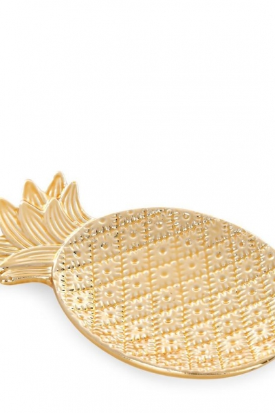 New Look Gold Pineapple Jewellery Tray