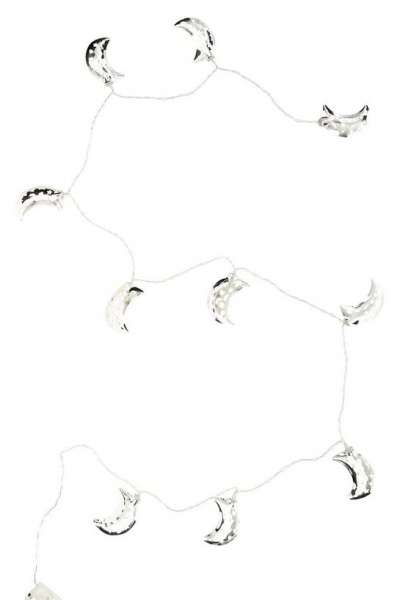 New Look Silver Crescent Moon Fairy Lights