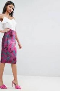 ASOS Jacquard Pencil Skirt