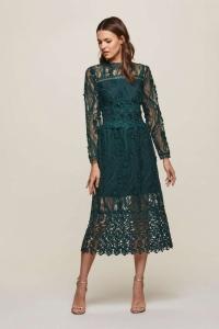 Miss Selfridge PREMIUM Lace Midi Shift Dress