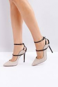 Reiss Suede Ankle Strap Court Shoe