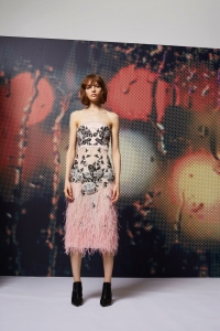 Topshop Embellished Chiffon Dress