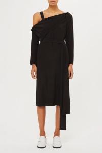 Topshop Off Shoulder Drape Dress
