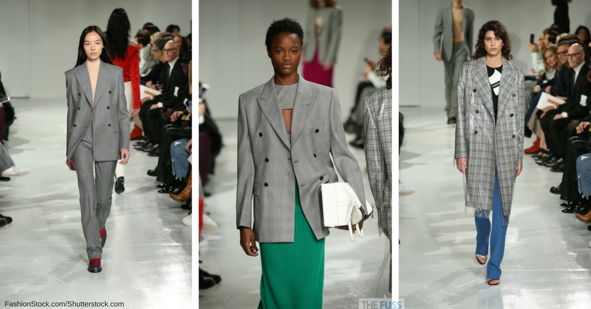 Calvin Klein features checks on the runway TheFuss.co.uk