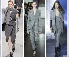The checked fashion trend on the runway at New York Fashion Week TheFuss.co.uk