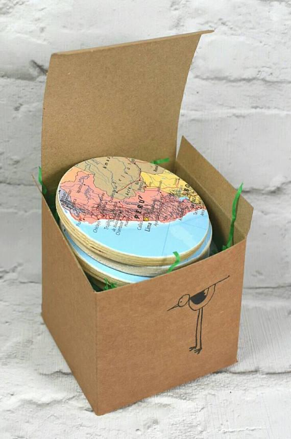 Custom World Map Coasters