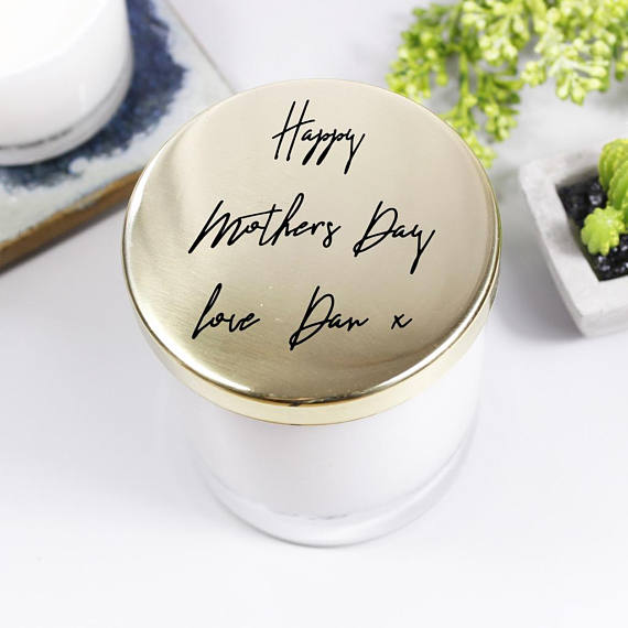 Mother's Day Scented Candle With Lid