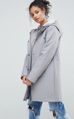 ASOS Borg Lined Raincoat