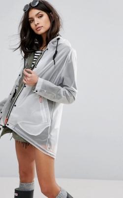 Hunter Womens Original Raincoat White