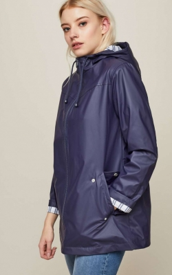 Miss Selfridge Navy Blue Raincoat