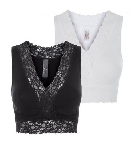 New Look Maternity 2 Pack Black And White Wrap Nursing Sleep Bras