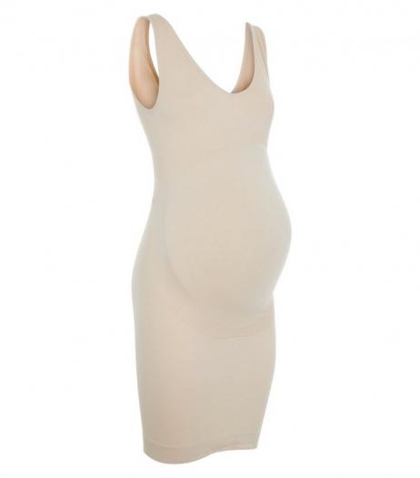 New Look Maternity Stone Seamless Slip Dress