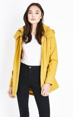 New Look Mustard Yellow Quilt Lined Anorak