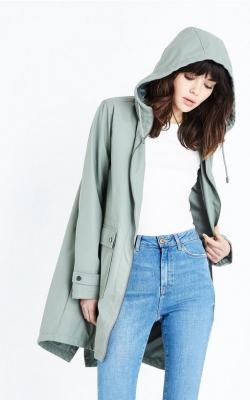 New Look Olive Longline Anorak