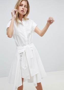 AllSaints Shirt Dress With Self Tie