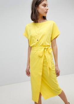 BASH Jersey Tie Up Dress