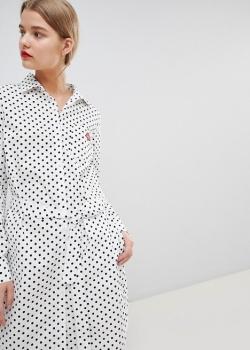 Essentiel Antwerp Shirt Dress In Spot Print